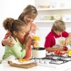 Annabel Karmel teaches children to cook