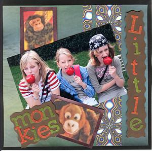 Scrapbook Image Little Monkeys